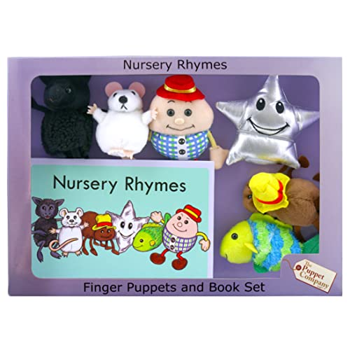 The Puppet Company - Traditional Story Set - Nursery Rhymes Finger Puppet and Book set from The Puppet Company
