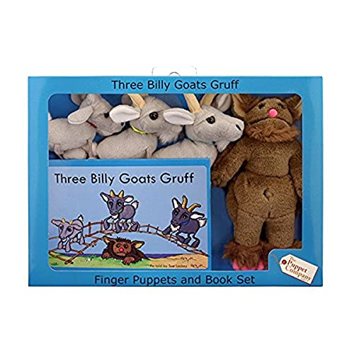 The Puppet Company - Traditional Story Sets - Three Billy Goats Gruff & Troll Finger Puppet Set from The Puppet Company