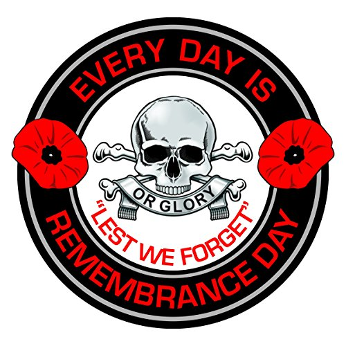 The Quartermaster Online QRL Queens Royal Lancers Remembrance Day Inside Car Window Clear Cling Sticker from The Quartermaster Online
