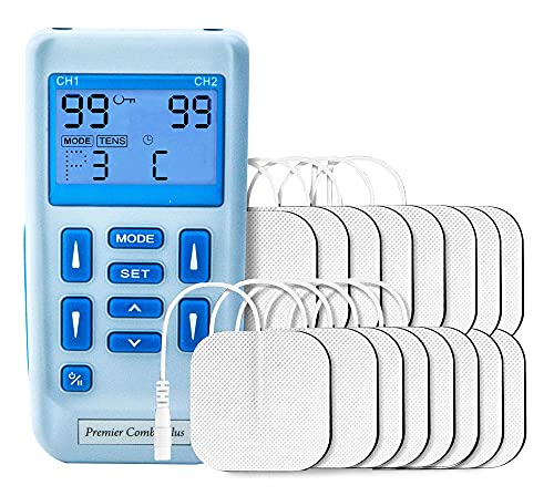 Premier Rechargeable Dual Channel Tens and Muscle Stimulator with 24 Pre-Set Programs for TENS & Muscle Stimulation from Medfit