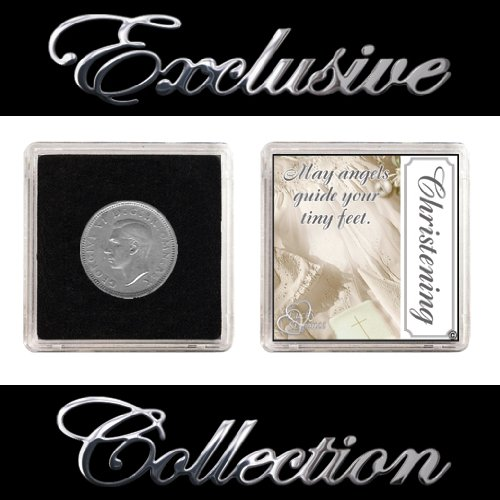 "LUCKY SIXPENCE FOR CHRISTENING ""BOY & GIRL"" from The Traditional Gift Co"