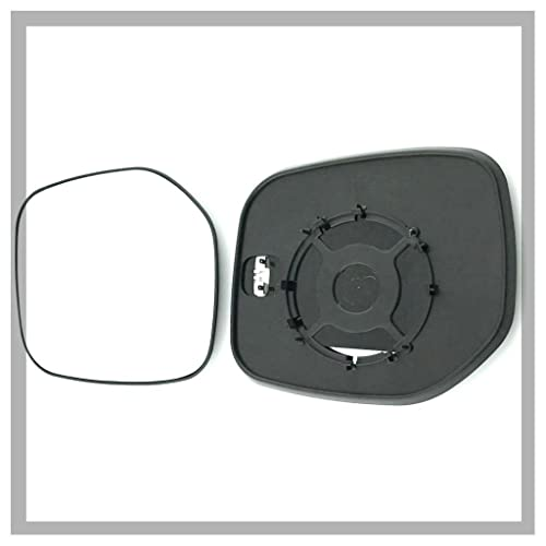 RNT-Kangoo 2001 to 2007 Heated Silver Aspheric Door Mirror Glass Including Base Plate LH Passenger Side