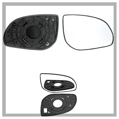 FIPanda 2009 to 2017 Non Heated Passenger Side Silver Door Mirror Glass Including Base Plate LH
