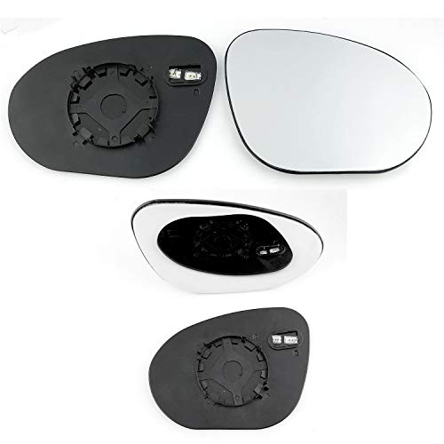 Silver Door Mirror Glass Including Base Plate RH HND-CV 2007 to 2012 Non Heated Driver Side