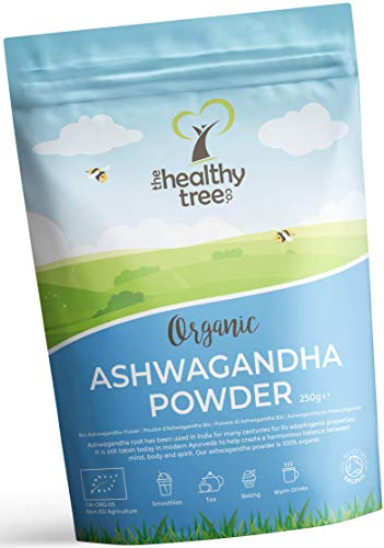 Organic Ashwagandha Powder - 100% Natural Ayurvedic Adaptogenic Healing Herb for Mind, Body and Spirit - Pure Ashwagandha Root Powder by TheHealthyTree Company from TheHealthyTree Company