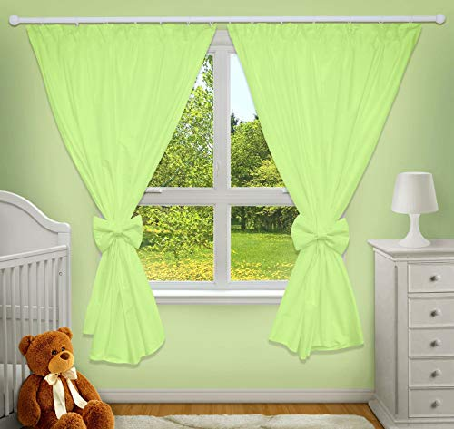 LUXURY DECORATIVE CURTAINS FOR BABY ROOM MATCHING WITH OUR NURSERY BEDDING SETS (Green) from TheLittles24