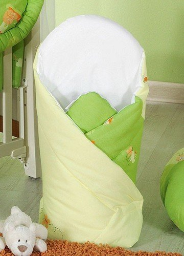 LUXURY NEWBORN BABY SWADDLE WRAP SLEEPING BLANKET / DUVET / BAG (Green snails) from TheLittles24