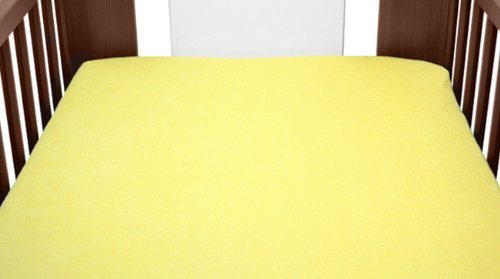 Terry Towelling Fitted Sheet 90x40 Mattress Nursery Baby Cot Cotbed Mattress Frotte (Yellow) from TheLittles24