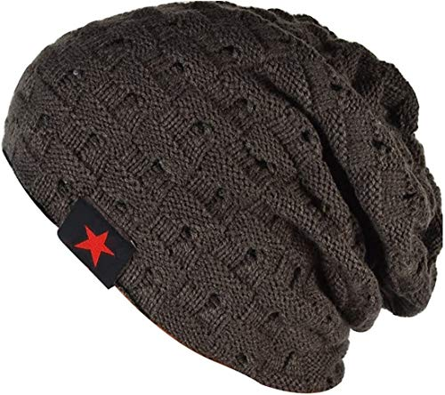 6f22a63dfc6 Thenice Men Reversible Slouchy Beanie Hat Unisex Skull Hat (Dark Grey) from  Thenice