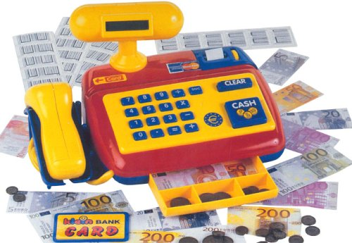 Theo Klein 9330 Electronic Cash Register with Scanner, Toy, Multi-Colored from Theo Klein