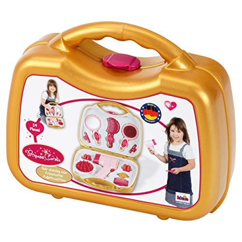 Theo Klein 5293 Princess Coralie Case with Electrical Hairdryer, Toy, Multi-Colored from Theo Klein