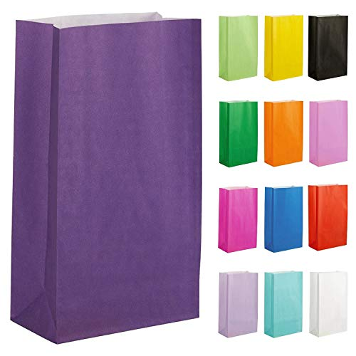 15 DEEP PURPLE Thepaperbagstore (TM) PAPER PARTY BAGS - CHOOSE YOUR COLOUR from Thepaperbagstore
