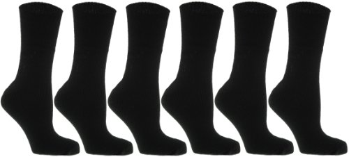 6 Pairs Ladies Winter Thermal Socks Black UK 4-7 from Thermal Socks