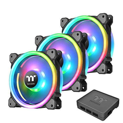 THERMALTAKE CL-F072-PL12SW-A Ventilateur Riing Trio 12 RGB 3 Pack - Black from Thermaltake