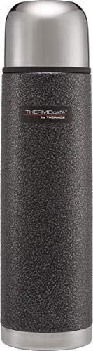 Thermos ThermoCafé Stainless Steel Flask, Hammertone Grey, 1.0 L from Thermos