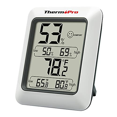 ThermoPro TP50 Room Thermometer Digital Indoor Hygrometer Monitor Temperature and Humidity Meter for Home Office Nursery Comfort, Min/Max Records from ThermoPro