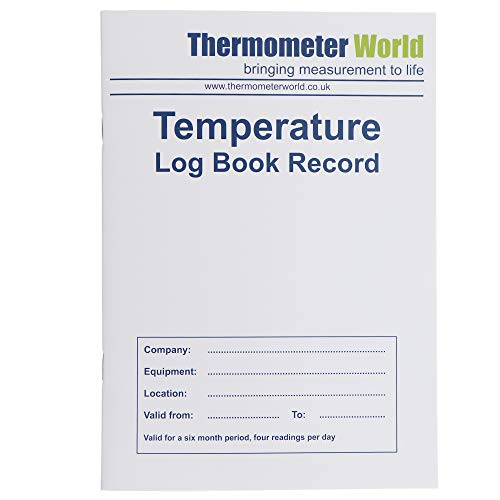 Fridge Temperature Log Book 6 Months Record - Monitor Fridge Freezer Cooking Baking Temperature Food Safety and Hygiene from Thermometer World