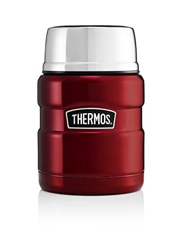 Thermos Stainless King Food Flask, Red, 470 ml from Thermos