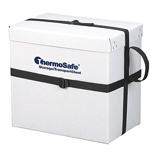"ThermoSafe 308 Storage and Transport Chest Container with Fiberboard Case and Strap, 1.6 cu. ft. Volume, 20.375"" L x 13.25"" W x 19.5"" H from Thermosafe"
