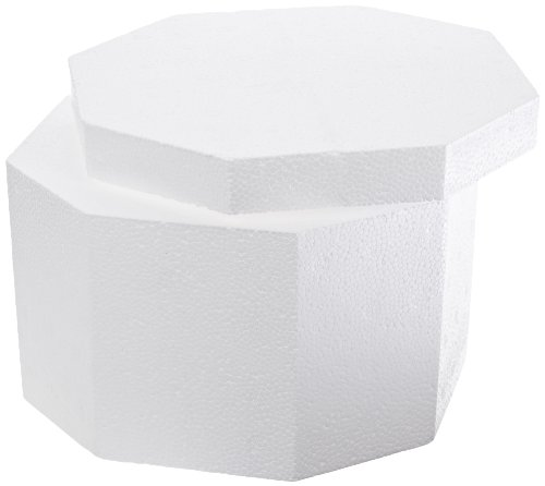 "ThermoSafe 312 EPS Foam Multi Purpose Round Container with Corrugated Carton, 6.75"" D x 4.25"" H (Case of 12) from Thermosafe"