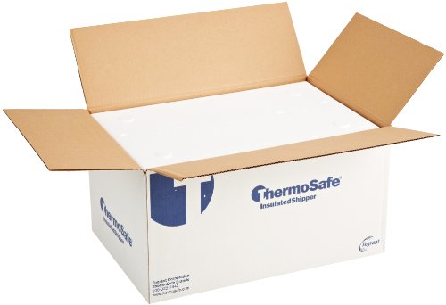 "ThermoSafe 664 EPS Foam Multi Purpose Insulated Shipper Container with Corrugated Carton, Thin Wall, 24"" L x 15.875"" W x 12.375"" H (Case of 2) from Thermosafe"