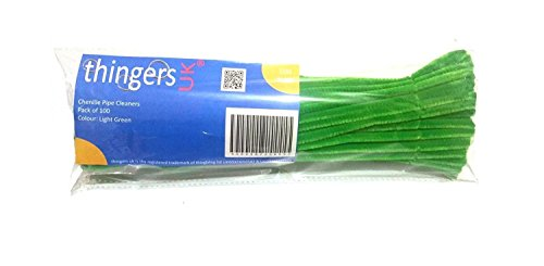 Thingers UK Pipe Cleaners - 30cm - Craft (Light-Green, Pack of 100) from Thingers UK