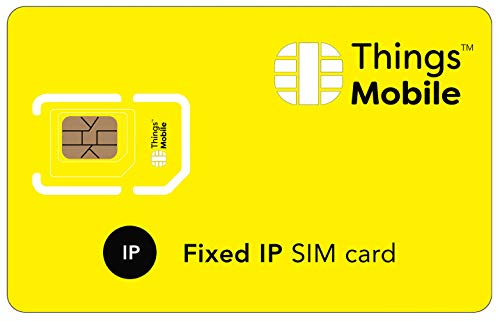 FIXED IP SIM Card for IOT and M2M - Things Mobile - Global Coverage and Multi-Operator GSM/2G/3G/4G LTE Network, No Fixed costs, No Expiration Date, Competitive Rates. €10 Credit Included from Things Mobile