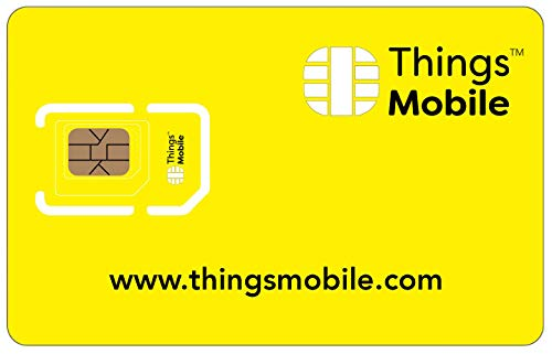 IOT and M2M SIM Card - Things Mobile - Global Coverage and Multi-Operator GSM/2G/3G/4G LTE Network, No Fixed costs, No Expiration Date, Competitive Rates. €10 Credit Included from Things Mobile