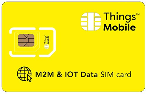 No Expiration SIM Card for IOT and M2M - Things Mobile - Global Coverage and Multi-Operator GSM/2G/3G/4G LTE Network, No Fixed costs, No Expiration Date, Competitive Rates. €10 Credit Included from Things Mobile