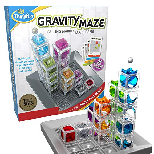 ThinkFun Gravity Maze Marble Run Logic Game and STEM Toy for Boys and Girls Age 8 and Up from Thinkfun