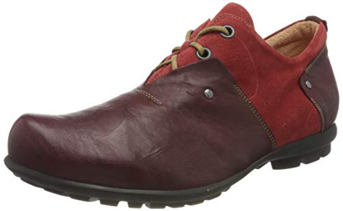 Think! Men's Kong Schnürhalbschuh Derby Red Size: 9 UK from Think!