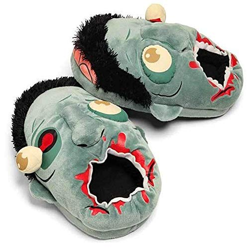 ThinkGeek Zombie Plush Slippers, Green, One Size from ThinkGeek