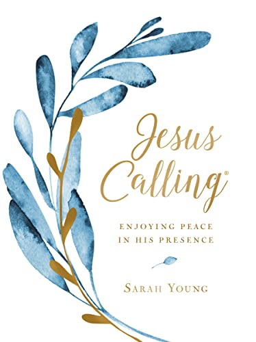 Jesus Calling (Large Text Cloth Botanical Cover): Enjoying Peace in His Presence (Jesus Calling (R)) from Thomas Nelson