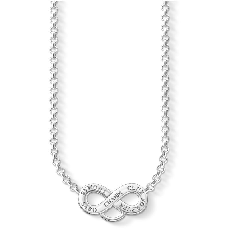 Ladies Thomas Sabo Sterling Silver Charm Club Infinity Necklace from THOMAS SABO Jewellery