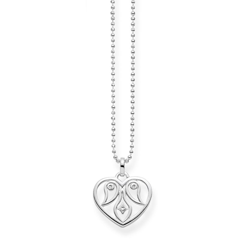 Ladies Thomas Sabo Sterling Silver Glam & Soul Diamond Heart Necklace from THOMAS SABO Jewellery