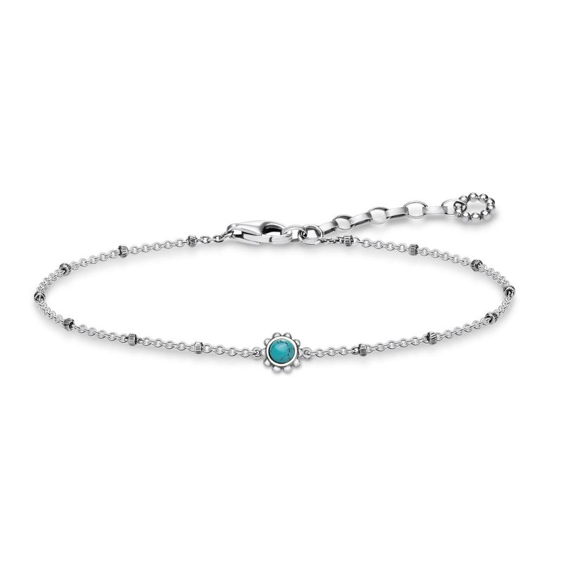 Ladies Thomas Sabo Sterling Silver Glam & Soul Ethno Turquoise Bracelet from THOMAS SABO Jewellery