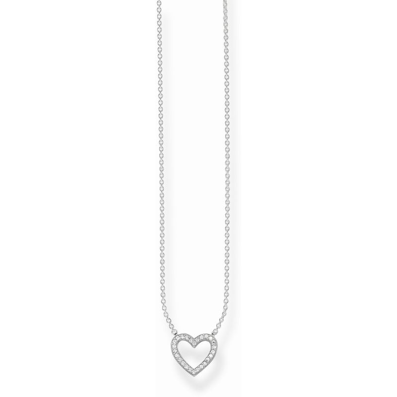 Ladies Thomas Sabo Sterling Silver Glam & Soul Heart Necklace from THOMAS SABO Jewellery