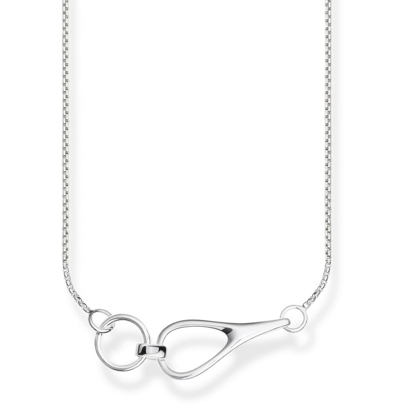 Ladies Thomas Sabo Sterling Silver Glam & Soul Heritage Interlocked Silver Necklace from THOMAS SABO Jewellery
