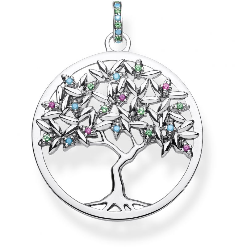 Ladies Thomas Sabo Sterling Silver Glam & Soul Paradise Colours Tree of Love Pendant from THOMAS SABO Jewellery