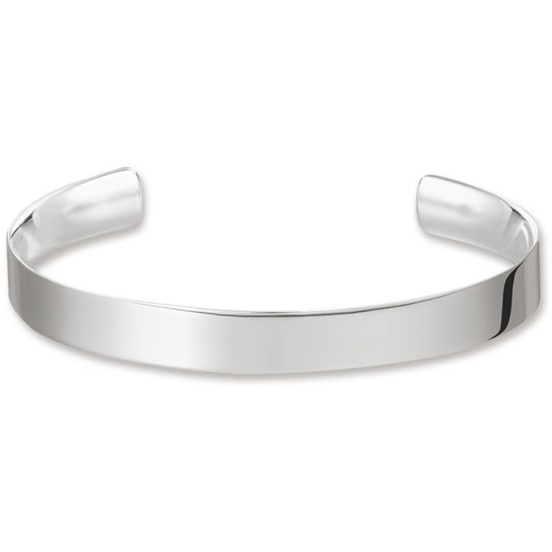 Ladies Thomas Sabo Sterling Silver LOVE CUFF BANGLE from THOMAS SABO Jewellery