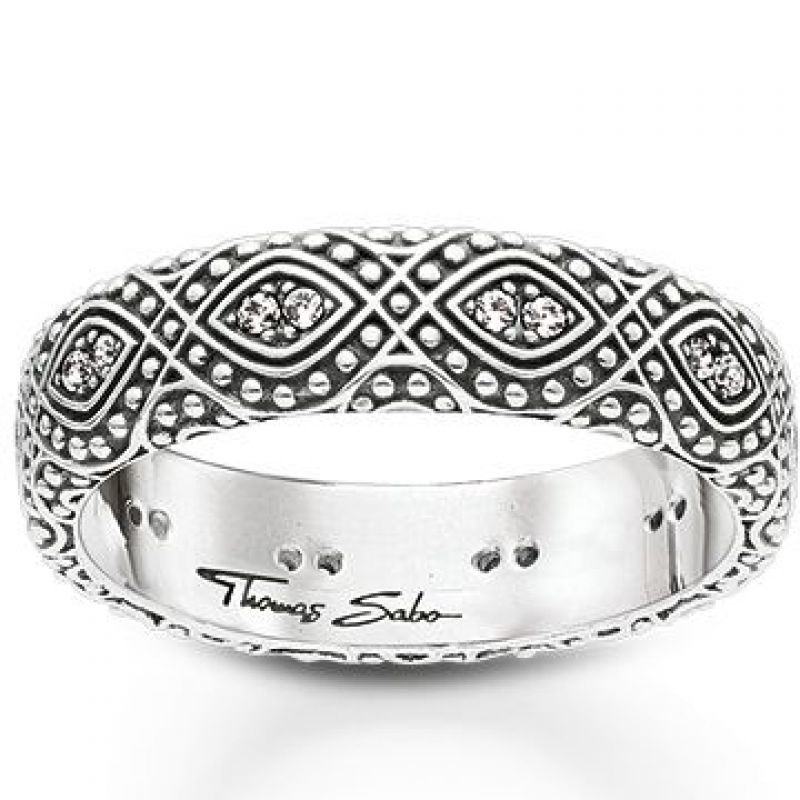 Ladies Thomas Sabo Sterling Silver Size K.5 Ethno Ornamentation Ring from THOMAS SABO Jewellery
