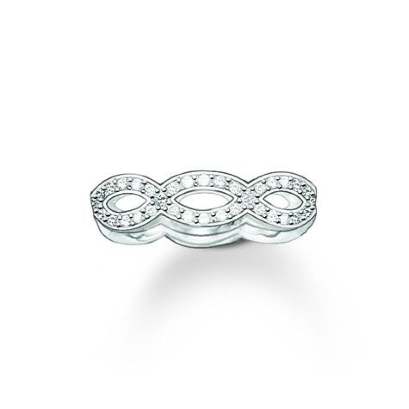 Ladies Thomas Sabo Sterling Silver Size P.5 Glam & Soul White Love Knot Ring from THOMAS SABO Jewellery