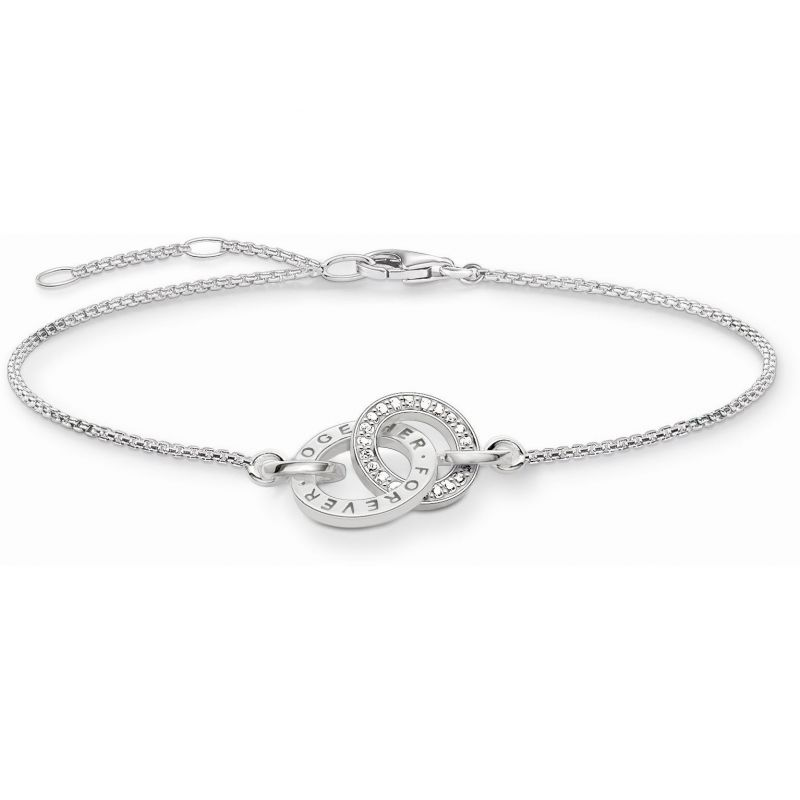 Ladies Thomas Sabo Sterling Silver Together Forever Bracelet from THOMAS SABO Jewellery