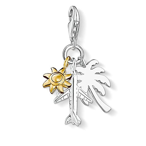 "Thomas Sabo ""Palm Tree, Sun, Plane Charm Pendant from Thomas Sabo"