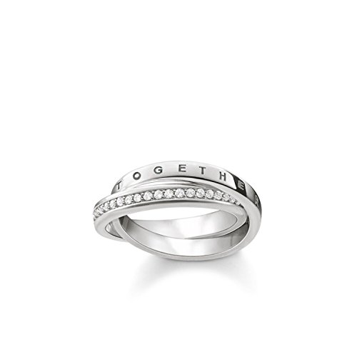 Thomas Sabo Women s 925 Sterling Silver Glam and Soul Together Forever Ring  - Size M1  6ac32bfe62