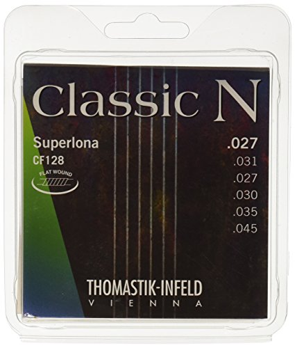Thomastik Strings for Classic Guitar Classic N Series Set Superlona Light CF128 Flat Wound from Thomastik