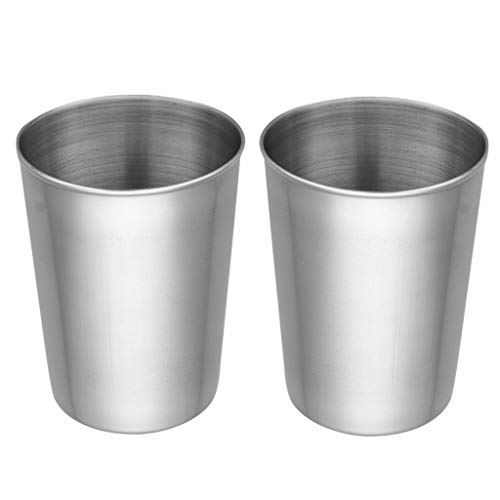 TiaoBug Food-Grade Stainless Steel Drinking Pint Cups UNBreak Stackable Tumblers for Kids Adults Outdoor Indoor 50ml/180ml/320ml/500ml Capacity 4pcs 500ml One size from TiaoBug