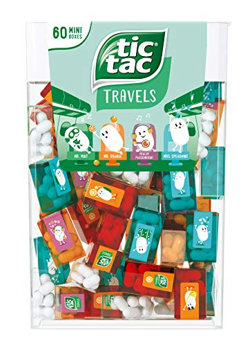 TIC TAC Box with 60 Mini Boxes (each 3.9 GRAMS), ARTIFICIALLY FLAVOURED MINTS from Tic Tac