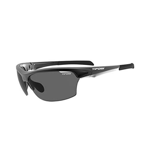 Tifosi Unisex's Intense Single Lens Sunglasses, Gloss Black/Smoke, One Size from Tifosi