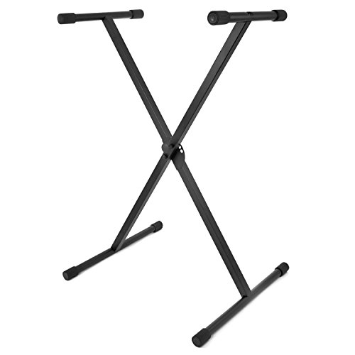 Tiger Keyboard Stand - Folding Single Braced X Frame Keyboard Stand for 61 to 88 Key Keyboards and Digital Pianos from Tiger Music